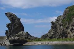 三谷漁港獅子岩4親子jpg.jpg