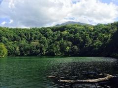 半月湖後の羊蹄山は雲かぶって残念.jpg