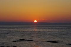 奥尻島に沈む夕日.jpg