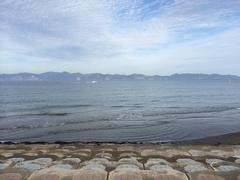 平館海水浴場から下北半島一番近いところ.jpg