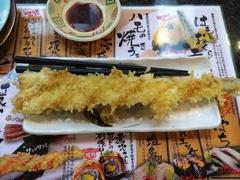 廻る寿司 すし蔵 穴子の天ぷら一本握り350円税抜き.jpg