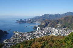 牛原山展望台から松崎町堂ヶ島富士山.jpg