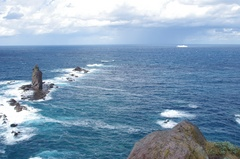 神威岬とフェリー.jpg