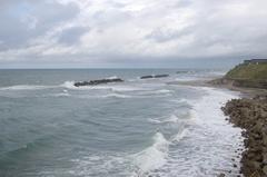 秋田市まで35キロ2北方向の海.jpg
