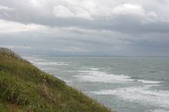 秋田市まで35キロ3南方向の海.jpg