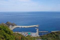 竜飛崎から龍飛漁港.jpg