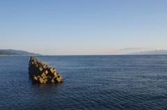 蟹田港の外津軽半島と下北半島の狭いところ.jpg