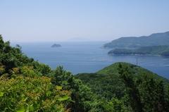 西海道路越田から野地島 沖の島.jpg