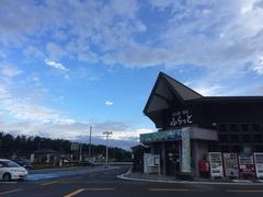 道の駅 鳥海 北の空に晴れ間が.jpg