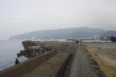 道の駅きょなん港と鋸山.jpg