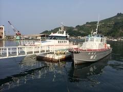道の駅八幡浜愛媛県警の船.jpg